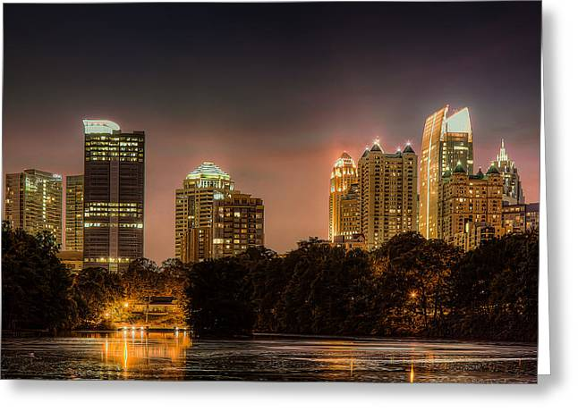 Piedmont Park Lake Greeting Card