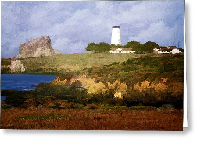 Piedras Blancas Lighthouse Greeting Card by Donna Kennedy