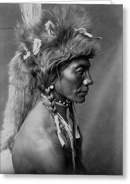 Piegan Indian Circa 1910 Greeting Card