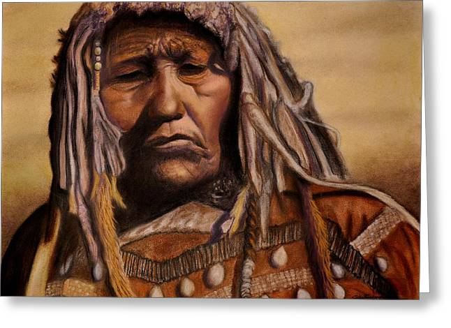 Piegan Medicine Woman Greeting Card by Wade Starr