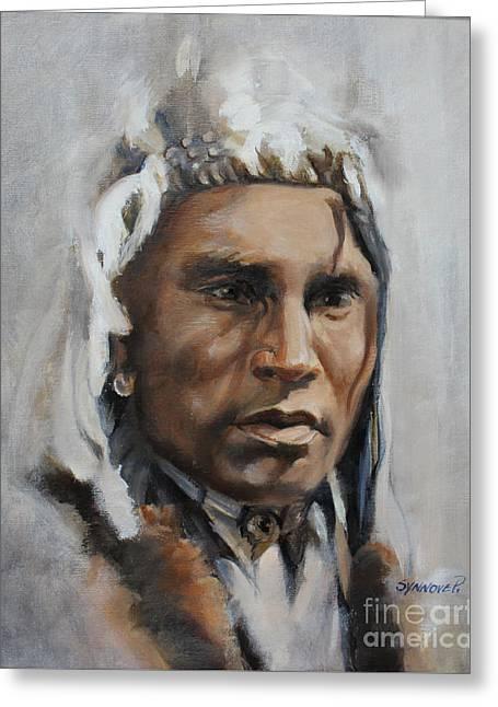 Piegan Warrior Portrait Greeting Card