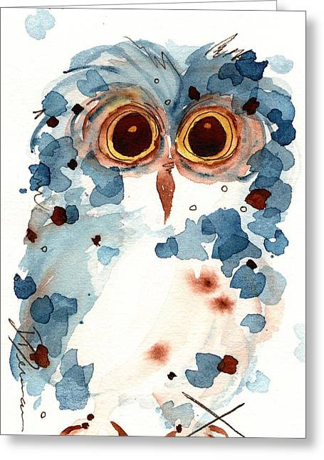 Pier 1 Owl Greeting Card by Dawn Derman