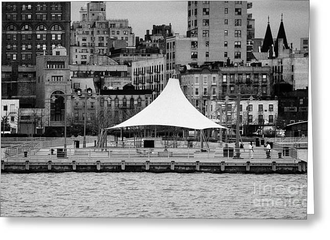 Pier 45 Hudson River Park New York City Greeting Card by Joe Fox
