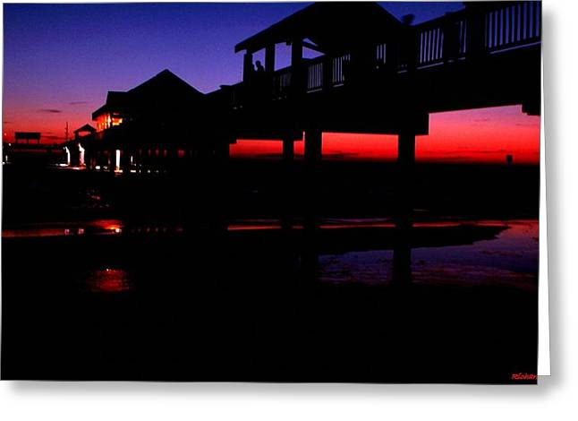 Pier 60 In After Glow 2 Greeting Card
