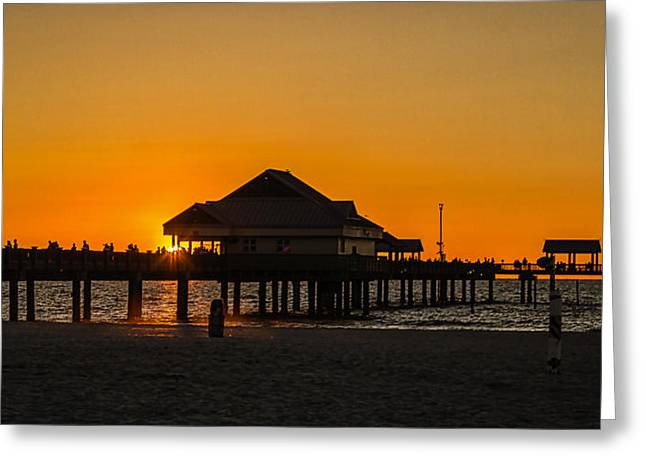 Pier 60 Sunset Greeting Card