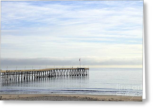 Pier Greeting Card by Gandz Photography