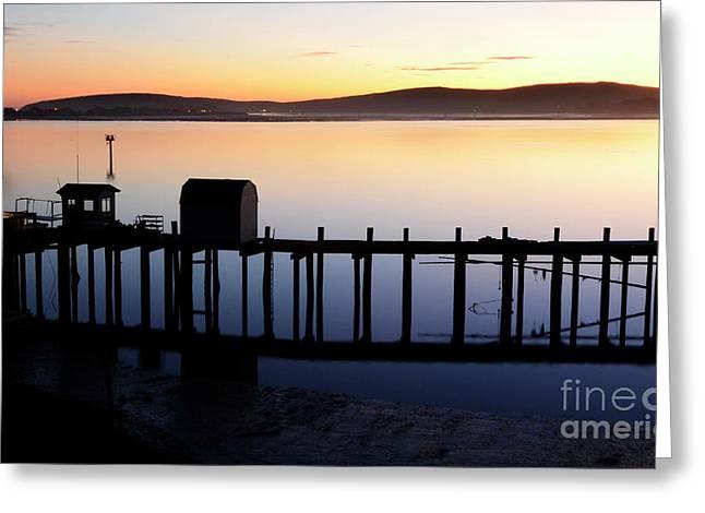 Pier At Bodega Bay California Greeting Card by Bob Christopher