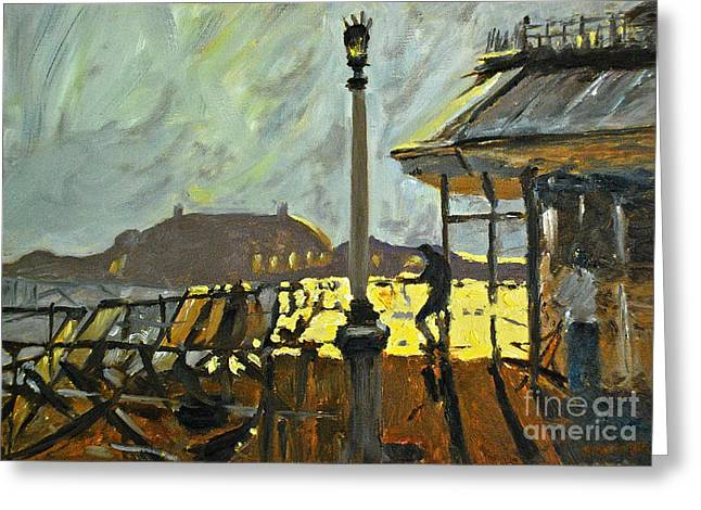 Pier At Brighton Greeting Card by Amy Fearn