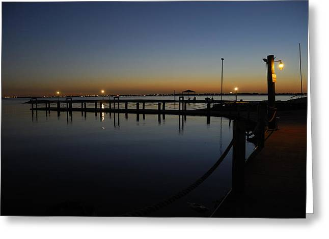 Pier At Chandlers Landing Rockwall Tx Greeting Card