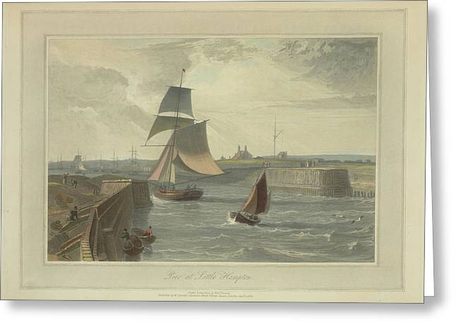 Pier At Littlehampton Greeting Card by British Library