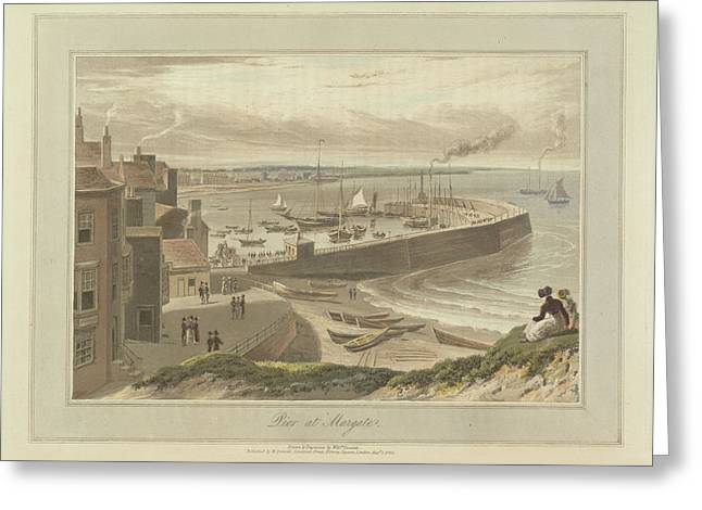Pier At Margate Greeting Card by British Library