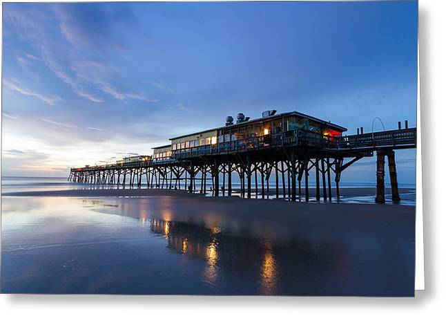 Pier At Twilight Greeting Card