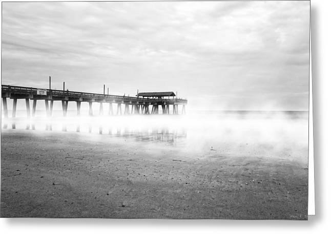 Pier At Tybee Island - Georgia Coast Greeting Card by Mark E Tisdale