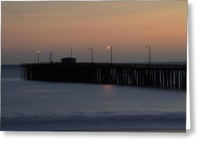 Pier Avilla Beach California  Greeting Card