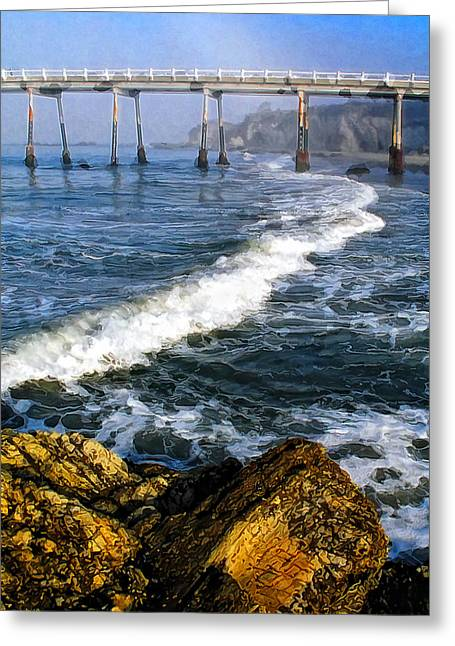 Pier Breakers Greeting Card