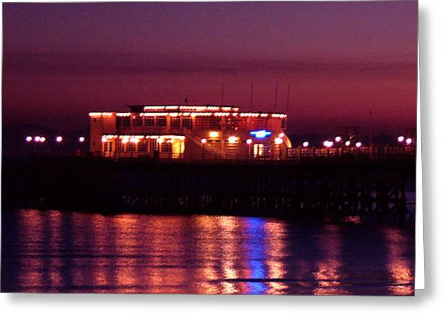 Pier By Night Greeting Card by Mark Bowden