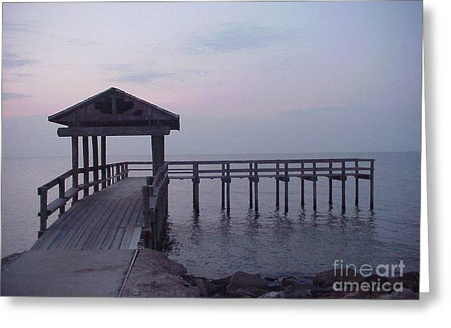 Pier Early Morning 1 Greeting Card by D Wallace