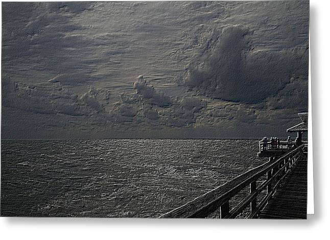 Pier Fx Greeting Card by Joseph Yarbrough