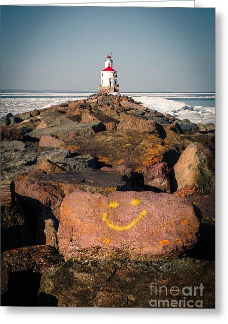 Greeting Card featuring the photograph Pier Happiness by Mark David Zahn