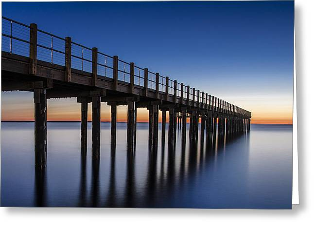 Pier In Blue Greeting Card