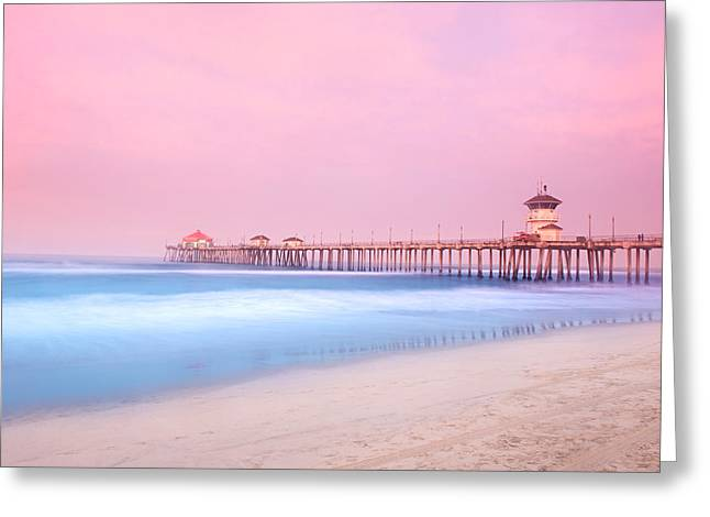 Pier In Early Morning Greeting Card