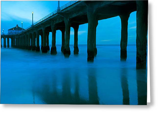 Pier In The Pacific Ocean, Manhattan Greeting Card by Panoramic Images