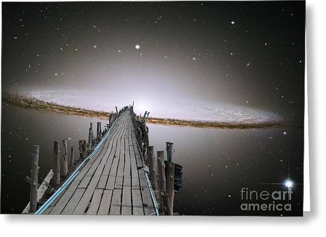 Pier Into Space Greeting Card by Gregory Smith