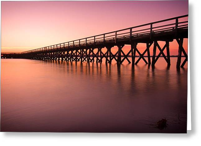 Pier Into The Distance Greeting Card