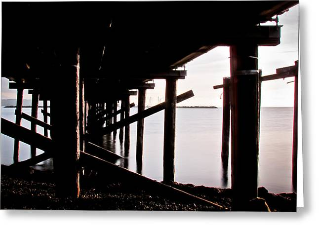 Pier Ocean And Angles Greeting Card
