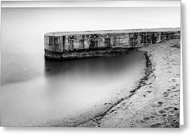 Pier On The Beach Greeting Card by George Digalakis