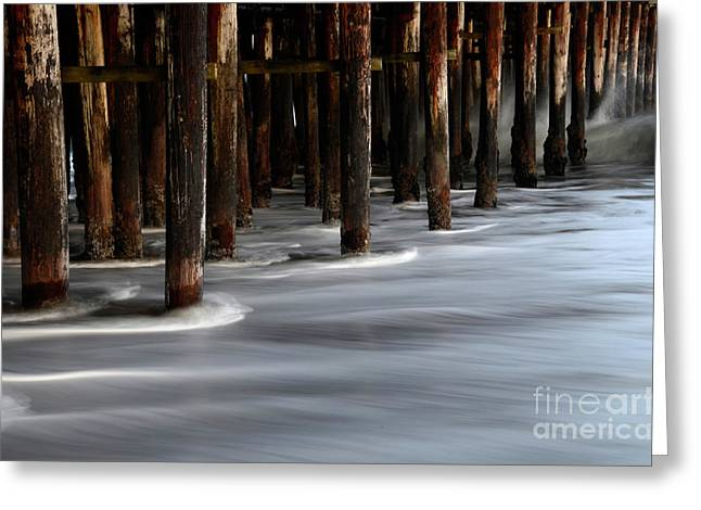 Pier Pilings Santa Cruz California 2 Greeting Card by Bob Christopher