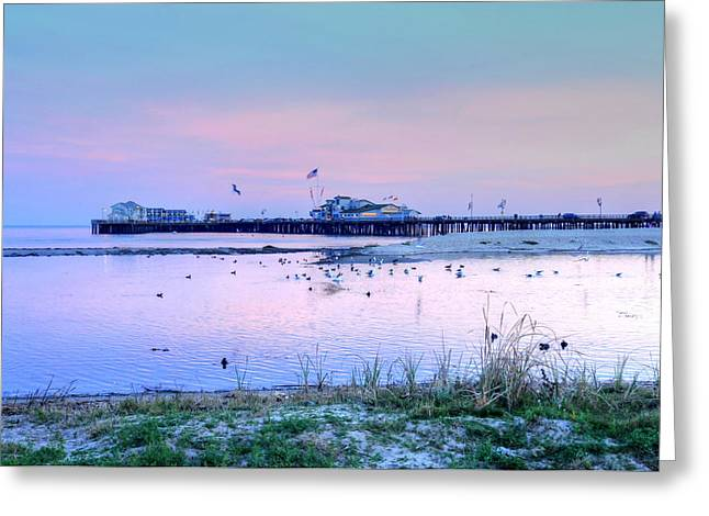 Pier Pond And Sea Greeting Card