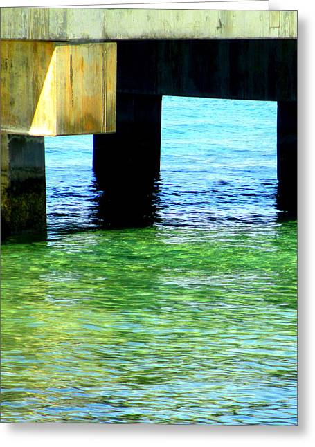 Pier Greeting Card by Randall Weidner