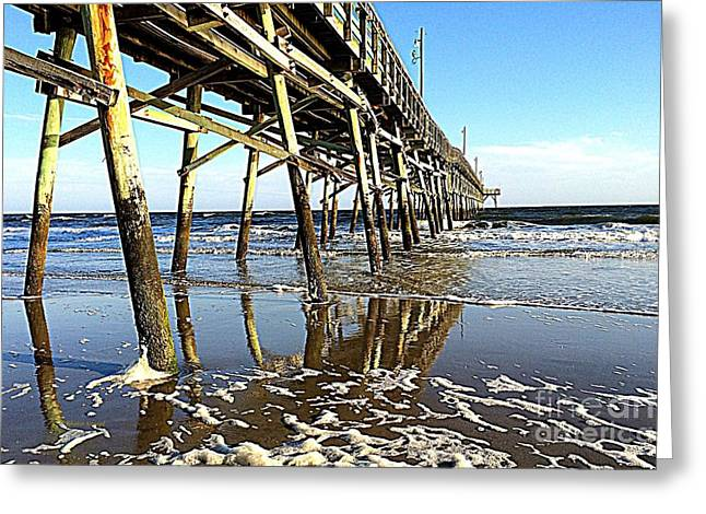 Pier Reflections Greeting Card by Shelia Kempf