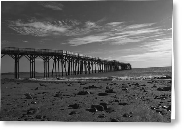 Pier San Simeon-1 Greeting Card