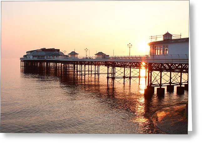 Pier Sunrise  Greeting Card