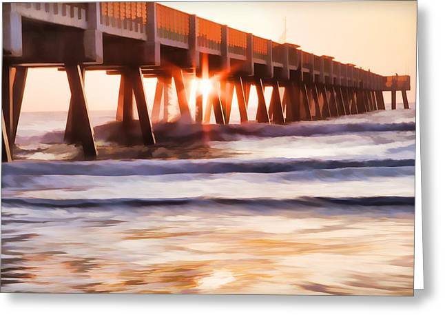 Pier Sunrise Too Greeting Card