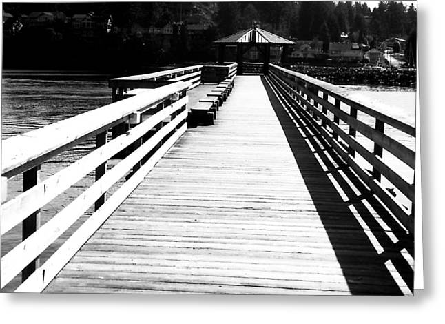 Pier To The End Greeting Card by Robert  Rodvik