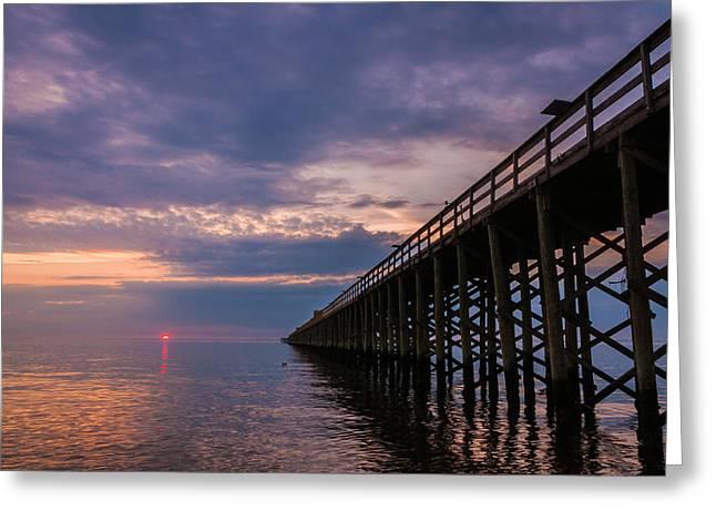 Pier To The Horizon Greeting Card