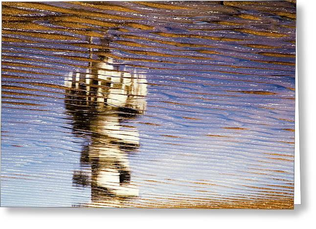 Pier Tower Greeting Card by Dave Bowman