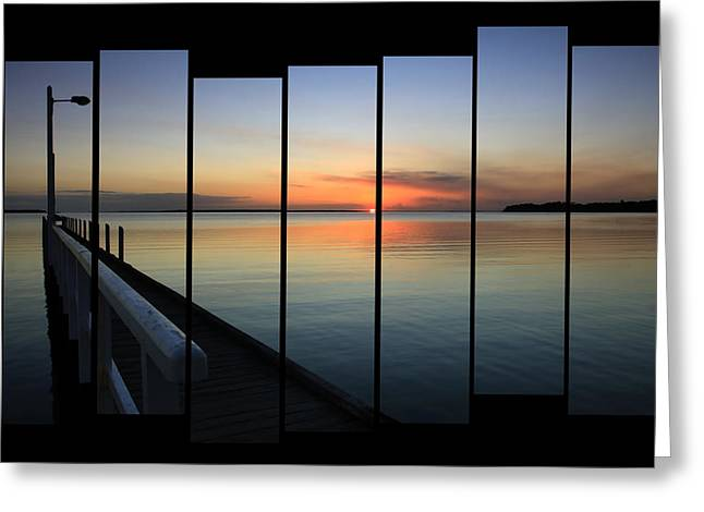 Pier View Sunset Greeting Card