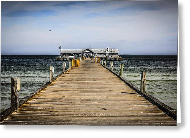 Pier Walkway Greeting Card