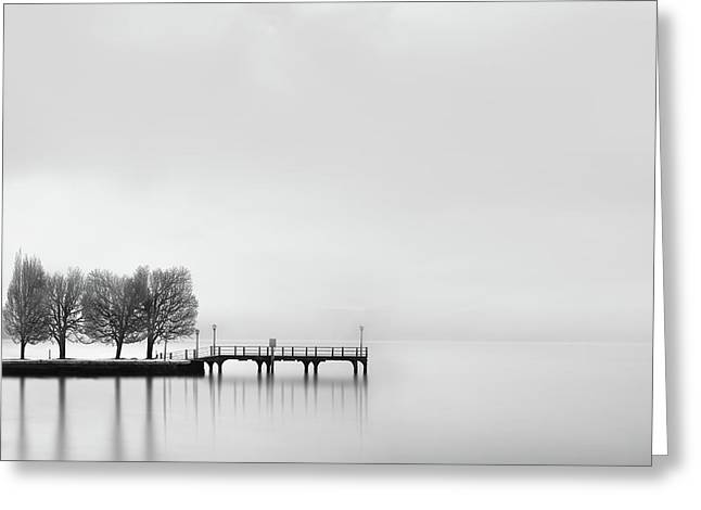 Pier With Trees (2) Greeting Card