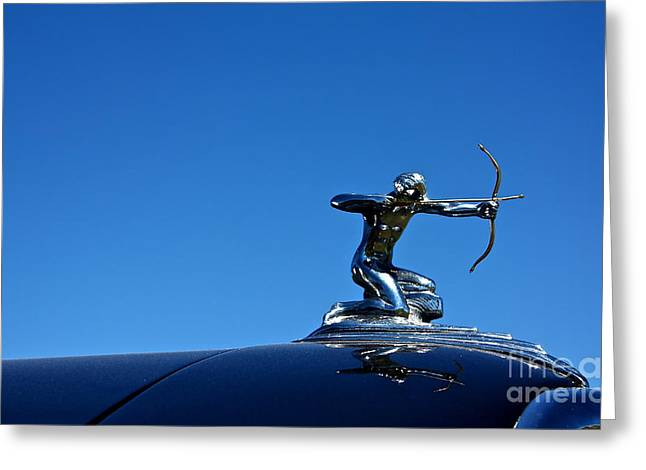 Greeting Card featuring the photograph 1938 Pierce Arrow by Linda Bianic