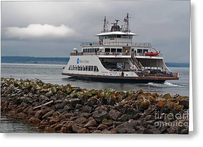 Pierce County Washington Ferry Greeting Card by Valerie Garner