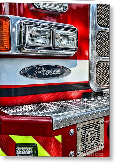 Pierce Fire Truck  Greeting Card by Paul Ward