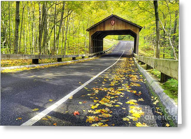Pierce Stocking Scenic Drive In Fall Greeting Card by Twenty Two North Photography