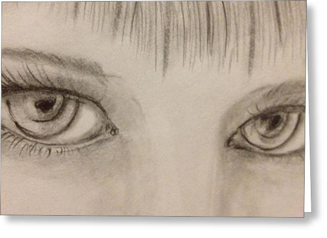 Piercing Eyes Greeting Card