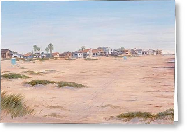 Pierpont Sand Dunes Greeting Card by Tina Obrien