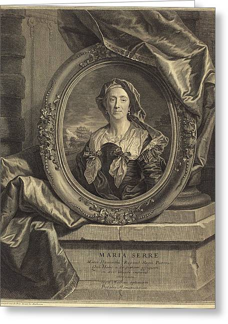 Pierre Drevet After Hyacinthe Rigaud French Greeting Card by Quint Lox